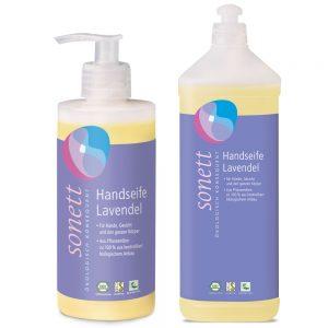 sonett Handseife Lavendel 300ml und 1l