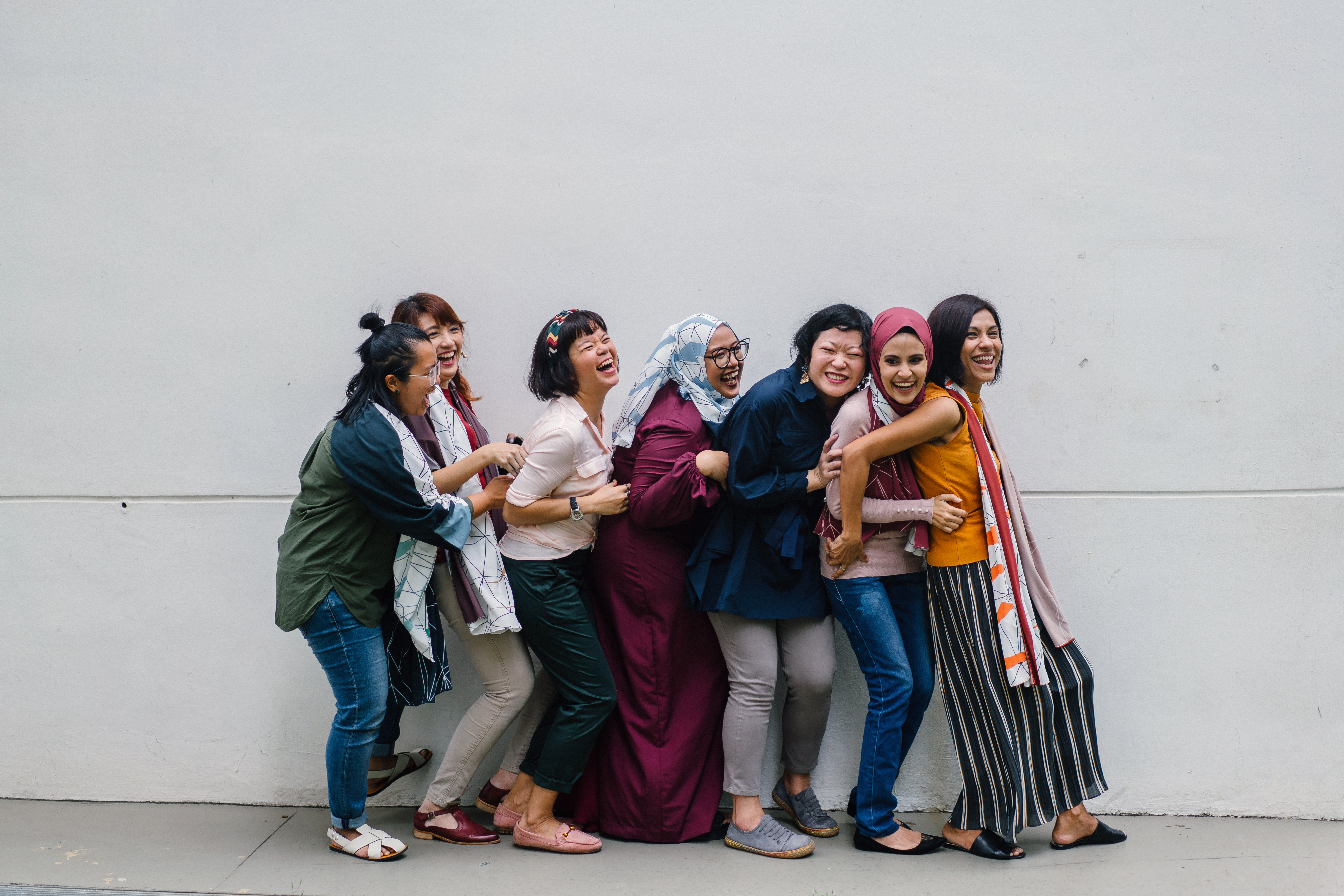 Gruppe von Frauen aus verschiedenen Ländern